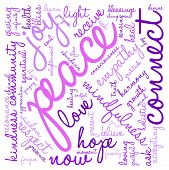 stock photo of peace  - Peace Word Cloud on a white background - JPG