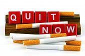 picture of tobacco smoke  - Quit Smoking Concept - JPG