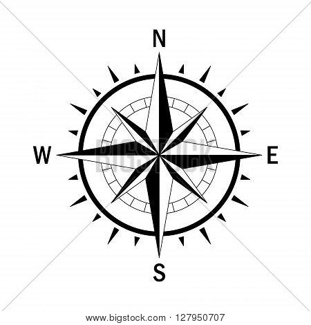 poster of Vector compass. Vector geo mark Wind Rose. Isolated vector compass. Rose Wind in lineal style. Image of Compass for Columbus Day. Vector marine wind rose for travel navigation design.