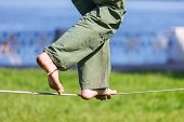 Slacklining is a practice in balance poster