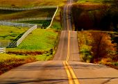 pic of long winding road  - long winding road located in rural west virginia - JPG