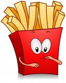 foto of french_fried  - Illustration of Fries Character - JPG