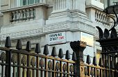 foto of prime-minister  - The Downing Street road sign in Westminster - JPG