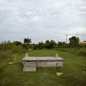 pic of katrina  - House foundation after Hurricane Katrina - JPG