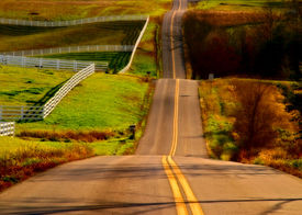 picture of long winding road  - long winding road located in rural west virginia - JPG