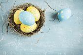 Easter Eggs In Nest poster
