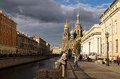 Cathedral Of The Resurrection Savior On Spilled Blood Saint Petersburg poster