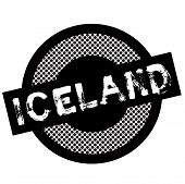 Iceland Typographic Stamp. Typographic Sign, Badge Or Logo poster