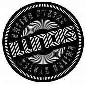 Illinois Typographic Stamp. Typographic Sign, Badge Or Logo poster