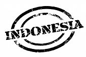 Indonesia Typographic Stamp. Typographic Sign, Badge Or Logo poster