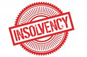 Insolvency Typographic Stamp. Typographic Sign, Badge Or Logo poster