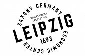 Leipzig Typographic Stamp. Typographic Sign, Badge Or Logo poster