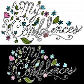 pic of condolence  - An image of a My Condolences floral message - JPG