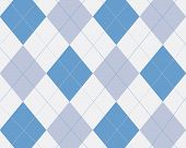 Blue Turquoise And White Argyle