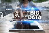 Big Data Technology And Internet Concept On The Virtual Screen poster