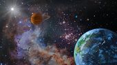 A View Of The Earth From Space. 3d Rendering.elements Of This Image Are Furnished By Nasa poster