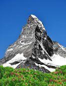 Постер, плакат: Красивая гора Маттерхорн швейцарские Альпы