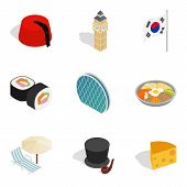 Cultural Diversity Icons Set. Isometric Set Of 9 Cultural Diversity Vector Icons For Web Isolated On poster