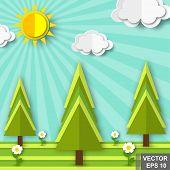 Landscape. Recreation. Journey. Spring. Heat. Rest In Tents. Trip. For Your Design. poster