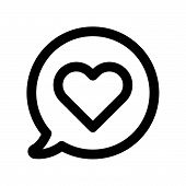 Постер, плакат: Love Chat Icon Isolated On White Background Love Chat Icon Modern Symbol For Graphic And Web Design