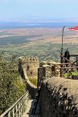 View From Top To Down Of The Sighnaghi Town City Wall And Flag Tower In Georgia, Khahheti Region. Si poster