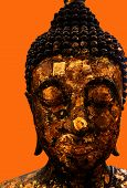 Old Buddha, Asiatic, Gold, Rust  Tourism, Concept, poster