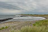Seaside And Landscape Near Town Of Skagen In Denmark. poster