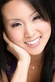 foto of asian woman  - Beautiful happy young smiling asian female model - JPG