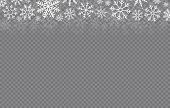 Happy New Year, Christmas And Xmas. Falling Snow. Snowflakes In Different Shapes. Winter Holidays. V poster