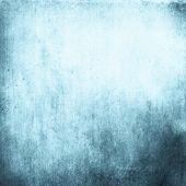 Abstract Luxury Blue Background, Old Blue Vignette Border Frame White Gray Background, Vintage Grung poster