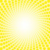 Yellow Freshness Spirale Sun Light Pattern. Dotted Tunnel With Bright Center - Twisted Circular Back poster
