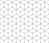 Silver Outline Geometric Square Pattern With Dots. Seamless Pattern Included In Swatch. Vector Seaml poster