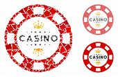 Royal Casino Chip Mosaic Of Bumpy Elements In Variable Sizes And Color Tints, Based On Royal Casino  poster