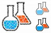 Chemistry Composition Of Inequal Elements In Various Sizes And Color Tones, Based On Chemistry Icon. poster