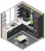 Vector isometric kitchen icon