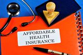 Affordable Health Insurance. Health Insurance Provides Financial Well-being Covers Part Of The Costs poster