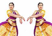 pic of bharatanatyam  - female Bharathanatyam dancer from south india asia - JPG