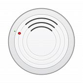 foto of smoke detector  - Smoke alarm detector isolated on white background - JPG