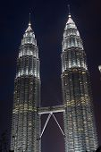 stock photo of petronas towers  - Petronas twin towers in Kuala Lumpur - JPG