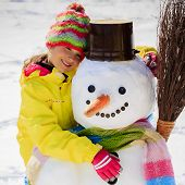 pic of snowman  - Winter fun - JPG