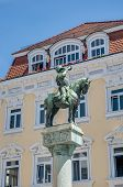 Michel Fountain In Esslingen Am Neckar, Germany