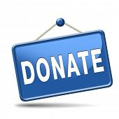 stock photo of word charity  - donate and give to charity help fund raising give and raise money donation - JPG