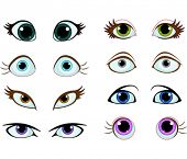 foto of manga  - Set of cartoon eyes with different expressions - JPG