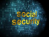 Security concept: Social Security on digital background