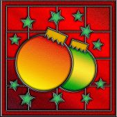 Stained Glass Christmas Window Panel