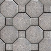 picture of octagon  - Gray Square and Octagon Pavements - JPG