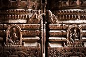 image of nepali  - Hindu temple architecture detail - JPG