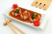 stock photo of chinese food  - Chinese sushi food - JPG