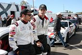 LOS ANGELES - APR 1:  Nick Wechsler, Sam Witwer at the Toyota Grand Prix of Long Beach Pro/Celebrity