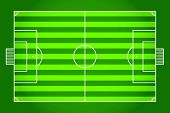 Soccer field. Football. Vector